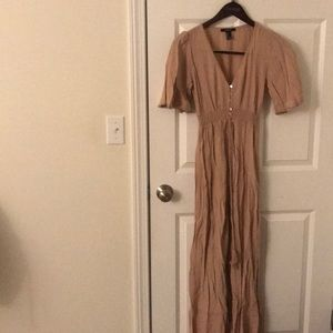 Maxi tan dress